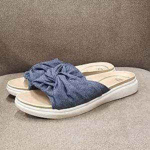 Dr. Scholl's Willow Denim Slide Sandals size 7